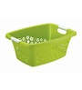 Rotho Floral Plastic 25 L Green Laundry Basket