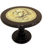 Round Coffee Table in Black Colour by Lakkarhara