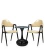 Round Coffee Table Set in Black & Ivory Colour by Parin