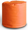 Round Ottoman L size in Orange & Red Piping Colour with Beans by Style Homez