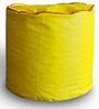 Round Ottoman L size in Yellow & Red Piping Colour with Beans by Style Homez