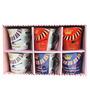 Royal Multicolor Ceramic 170 ML Coffee Mug - Set of 6