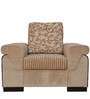 Royal One Seater Sofa with Cushion in Brown Colour by Crystal Furnitech