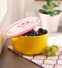Royal Premium Yellow Ceramic 600 ML Bowl with Lid