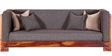 Ruston Three Seater Sofa with Throw Cushions in Honey Oak Finish by Woodsworth