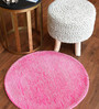 Ruben Area Rug 28 Inch in Pink by CasaCraft