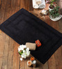 Fabiana Bath Mat in Black by Casacraft