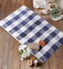 Florentino Bath Mat in Blue by Casacraft