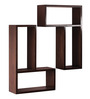 Tono Contemporary Wall Shelves Set of 2 in Natural Teak by CasaCraft