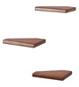 Timoteo Contemporary Wall Shelves Set of 3 in Natural Teak by CasaCraft