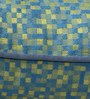 S9Home by Seasons Blue & Yellow Polyester 16 x 16 Inch Cushion Cover with Piping