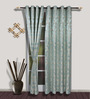 S9home by Seasons Long Blue Polyester Door Curtain - Set of 2