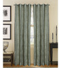 S9home by Seasons Blue Polyester Abstract Window Curtain - Set of 2