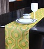 S9home by Seasons Contemporary Yellow & Green Polyester Table Runner