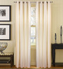 S9Home by Seasons Cream Polyester Solid Curtain - Set of 2