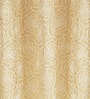 S9home by Seasons Beige Polyester Floral Door Curtain - Set of 2