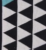 S9Home by Seasons Black & White Cotton Geometrical Throw