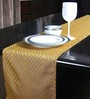 S9home by Seasons Geometrical Gold Polyester Table Runner