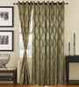 S9home by Seasons Green Door Curtains Polyester (Set of 2)