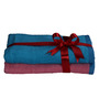 S9home by Seasons Premium Quality Pink and Blue Cotton Kids Towel Gifting Set