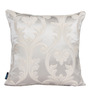 S9Home by Seasons Silver Polyester 16 x 16 Inch Floral Silver Cushion Cover