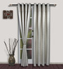 S9home by Seasons Long White Polyester Door Curtain - Set of 2