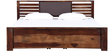 Clancy King Size Bed with Storage in Provincial Teak Finish by Woodsworth