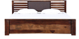 Clancy Queen Size Bed in Provincial Teak Finish by Woodsworth