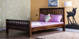 Oroville Queen Size Bed in Provincial Teak Finish by Woodsworth