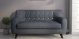 San Bruno Two Seater Sofa in Charcoal Grey Colour by CasaCraft