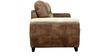 Sandstone Three Seater Sofa in Dark Brown by Sofab