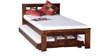 Raliegh Single Bed with Trundle in Provincial Teak Finish by Woodsworth