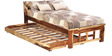 Raliegh Single Bed with Trundle in Natural Sheesham Wood Finish by Woodsworth