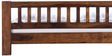 Amarillo King Size Bed in Provincial Teak Finish by Woodsworth