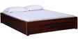 Freemont Queen Bed with storage in Honey Oak Finish by Woodsworth