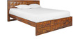Saphire Queen Bed in Honey Brown Colour by Royal Oak