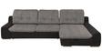 Saubrey L Shape Sofa in Black & Grey Colour with Storageby Madesos