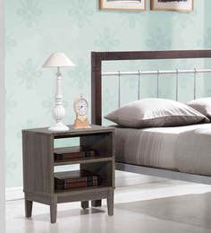 bed side table in sonoma oak colour by mintwud at pepperfry buy zina solidwood side table