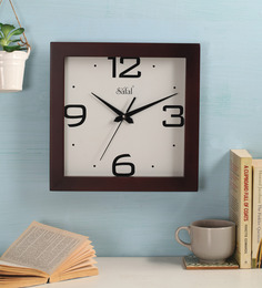 Safal Quartz Frame In Square Shape  MDF Wall Clock
