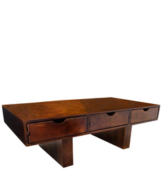 Safford Coffee Table in Brown Colour by InLiving