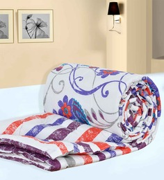 Salona Bichona White Paisley Single Comforter