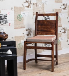 Renton Dining Chair In Provincial Teak Finish By Woodsworth
