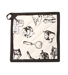 Sanjeev Kapoor Bon Appetit Midnight Rouge Black Pot Holder
