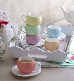 Sanjeev Kapoors Nutra Cups & Saucers - Set of 6