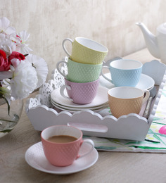 Sanjeev Kapoors Prima Cups & Saucers - Set of 6