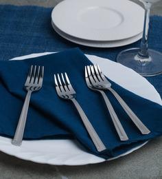 Sanjeev Kapoor Sleek Stainless Steel Dessert Fork - Set of 6