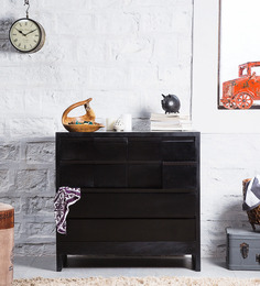 Oakland Chest of Drawers in Espresso Walnut Finish by Woodsworth