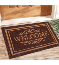 Saral Home Brown Coir 24 x 16 Inch Outdoor Heavy Duty Mat