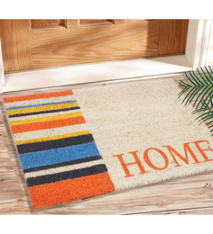 Saral Home Multicolour Coir 24 x 16 Inch Outdoor Heavy Duty Mat