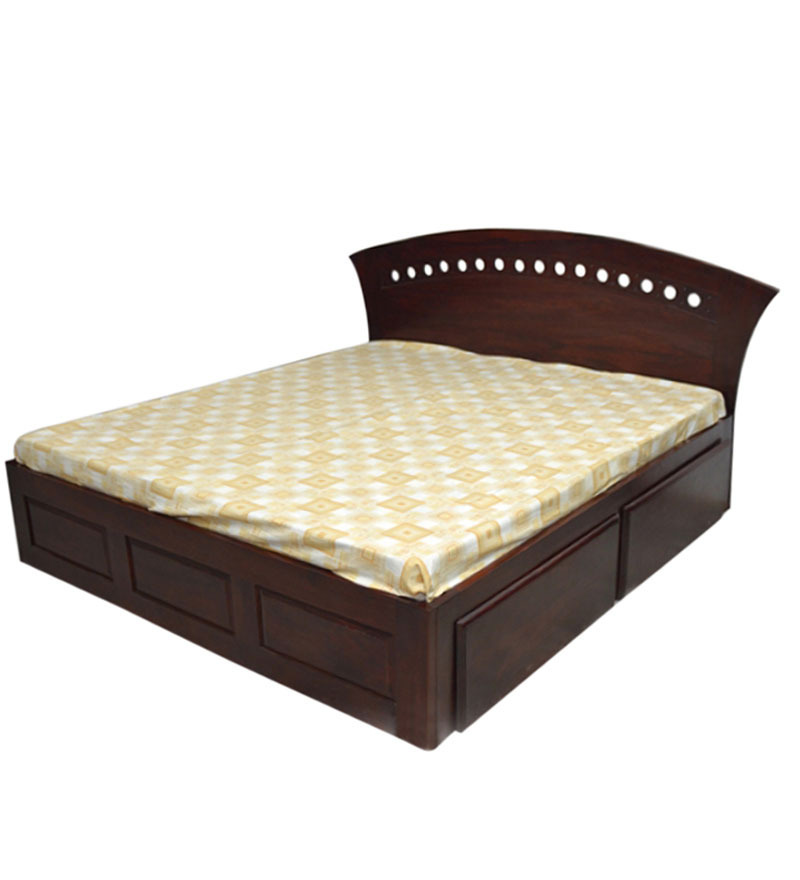King bed with drawers rosewood king size longevity - King size platform beds with storage drawers ...